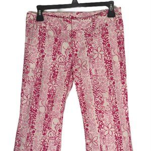 🌵Lilly Pulitzer Womens Pants Size 0 Pink Floral